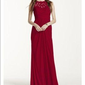 David's Bridal Apple Bridesmaid Dress